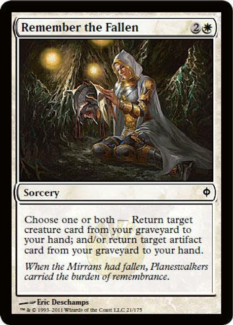 MtG New Phyrexia Common Remember the Fallen #21