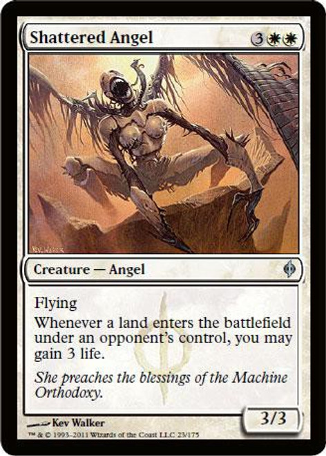 MtG New Phyrexia Uncommon Shattered Angel #23
