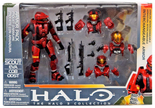 McFarlane Toys Halo 3 Red Spartan Soldier Interchangeable Armor Pack Action Figure Set