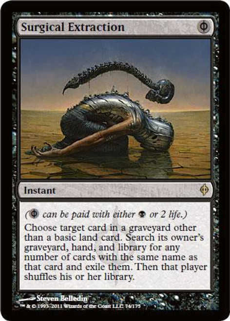 MtG New Phyrexia Rare Surgical Extraction #74