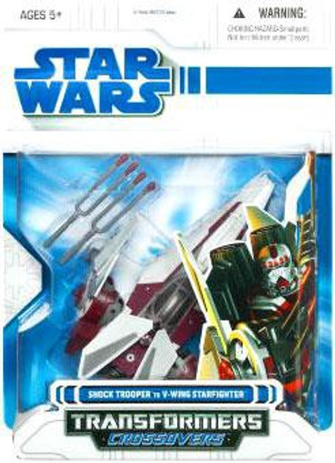 Star Wars The Clone Wars Transformers Crossovers 2009 Shock Trooper to V-Wing Starfighter Action Figure