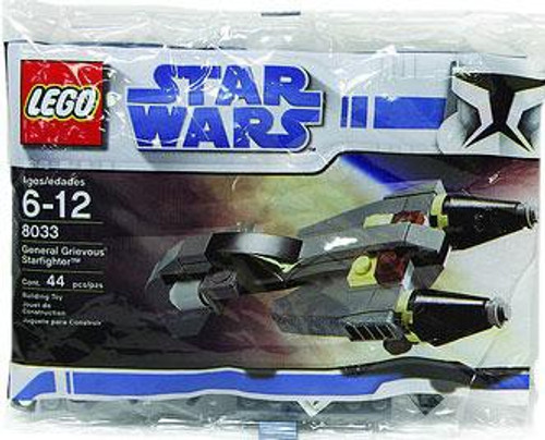 LEGO Star Wars The Clone Wars General Grievous Starfighter Mini Set #8033 [Bagged]