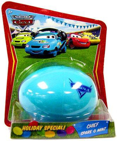 Disney / Pixar Cars The World of Cars Easter Eggs Easter Egg Chief Spare O Mint Diecast Car