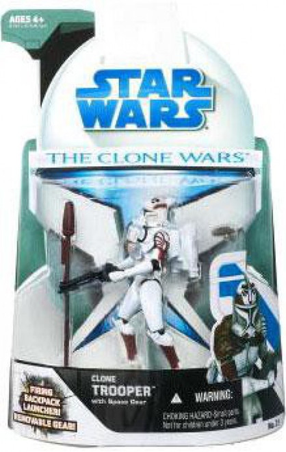 Star Wars The Clone Wars 2008 Clone Trooper with Space Gear Action Figure #21