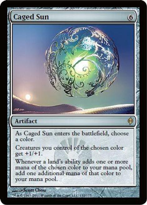 MtG New Phyrexia Rare Caged Sun #132