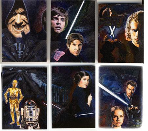 Topps Star Wars Galaxy Series 4 Etched Foil Trading Card Set