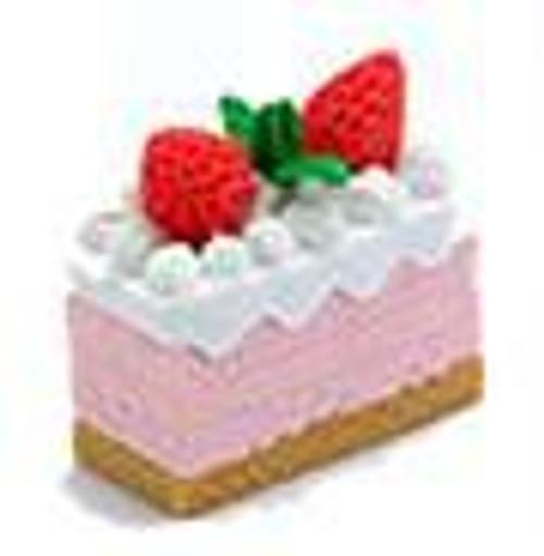 Iwako Strawberry Cake with Vanilla Icing and Strawberries Eraser