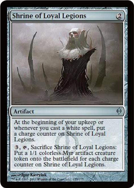 MtG New Phyrexia Uncommon Shrine of Loyal Legions #155