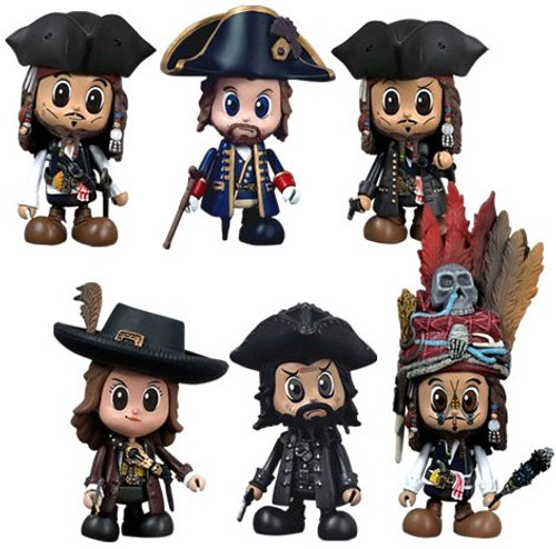 Pirates of the Caribbean On Stranger Tides Cosbaby Set of 6 Vinyl Figures