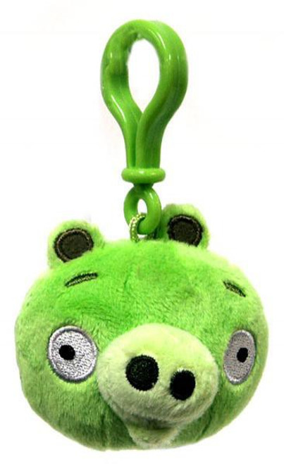 Angry Birds Neutral Pig 3-Inch Plush Backpack Clip