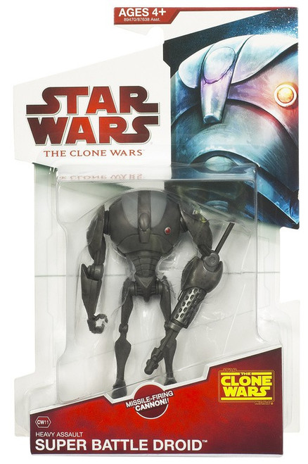 Star Wars The Clone Wars 2009 Super Battle Droid Sergeant Action Figure CW11