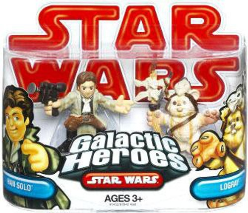 Star Wars Return of the Jedi Galactic Heroes 2009 Han Solo & Logray Mini Figure 2-Pack