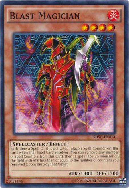 YuGiOh YuGiOh 5D's Structure Deck: Spellcaster's Command Common Blast Magician SDSC-EN014