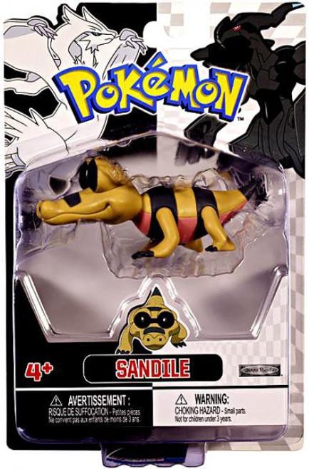 Pokemon Black & White Series 2 Basic Sandile Figure