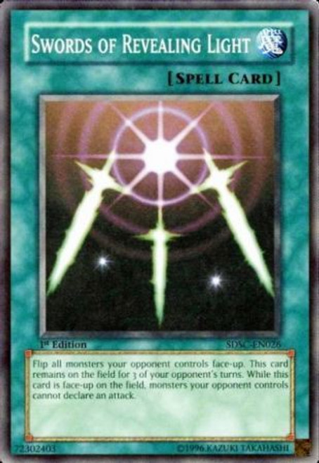 YuGiOh YuGiOh 5D's Structure Deck: Spellcaster's Command Common Swords of Revealing Light SDSC-EN026