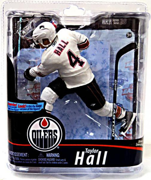 McFarlane Toys NHL Edmonton Oilers Sports Picks Series 28 Taylor Hall Action Figure [White Jersey]