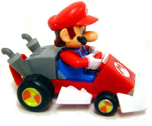 Super Mario Mario Kart Mario Pull Back Racer [Tomy / Gacha]