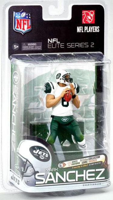 McFarlane Toys NFL New York Jets Sports Picks Elite 2011 Series 2 Mark Sanchez Action Figure