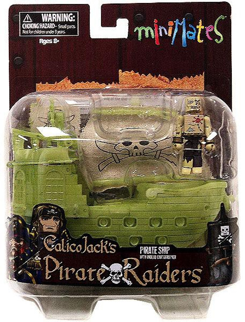 Minimates Calico Jack's Pirate Raiders Pirate Ship with Undead Cartographer Minifigure Set