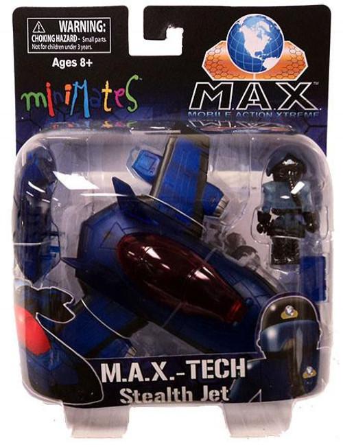 Minimates M.A.X.-TECH Stealth Jet Minifigure Set [Clear Blue]