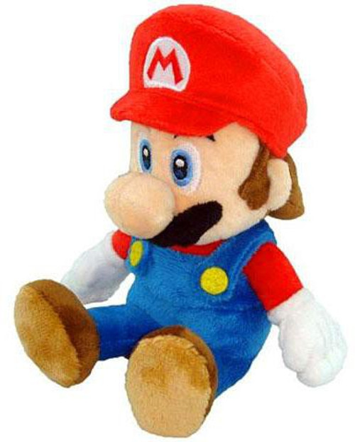 Nintendo New Super Mario Bros Wii Mario 8-Inch Plush [Sitting]