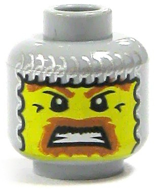 Yellow Male with Chainmail Coif Minifigure Head [Loose]
