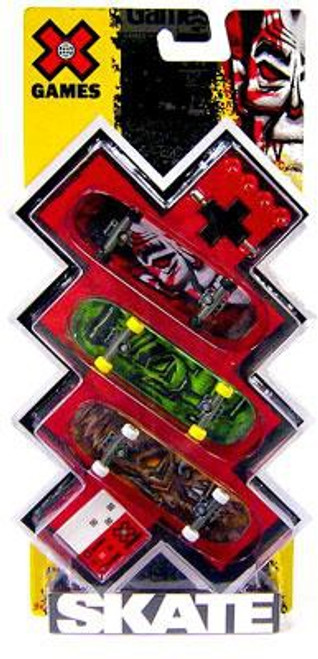 X Games Extreme Sports Movie Monsters Mini Skateboard 3-Pack [Dracula, Frankenstein & Wolfman]