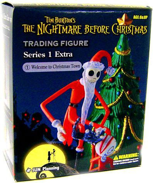 Nightmare Before Christmas Series 1 Extra Welcome to Christmas Town Trading Figure #1