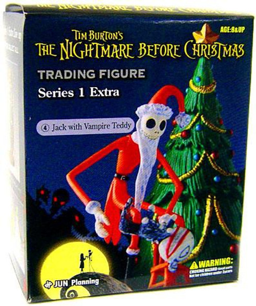 Nightmare Before Christmas Series 1 Extra Jack with Vampire Teddy Trading Figure #4