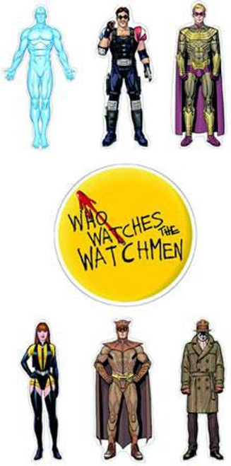 NECA Watchmen Character Set of 7 Stickers