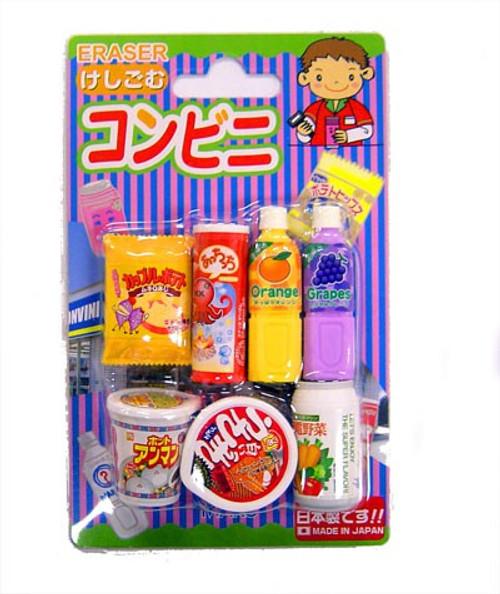 Iwako Snacks & Drinks Eraser Set