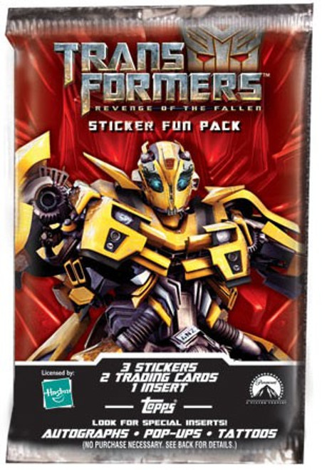 Transformers Revenge of the Fallen Trading Card Sticker Pack