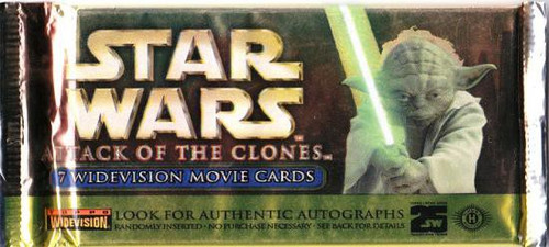 Star Wars Attack of the Clones Widevision Trading Card Pack