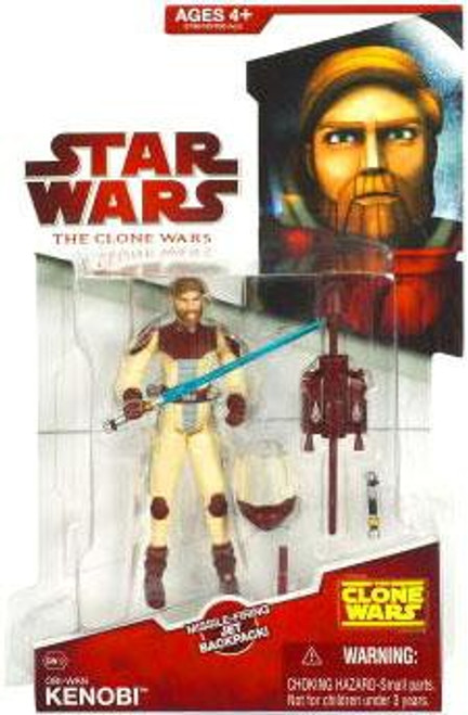Star Wars The Clone Wars 2009 Obi-Wan Kenobi Action Figure CW12 [Space Suit]