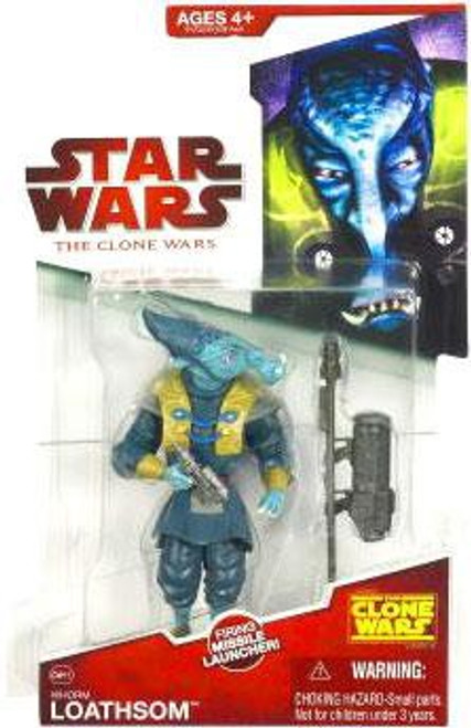 Star Wars The Clone Wars 2009 General Whorm Loathsom Action Figure CW15