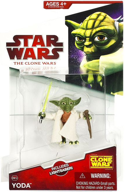 Star Wars The Clone Wars 2009 Yoda Action Figure CW14