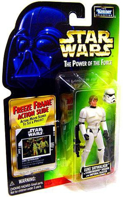 Star Wars A New Hope Power of the Force POTF2 Kenner Collection Luke Skywalker in Stormtrooper Disguise Action Figure