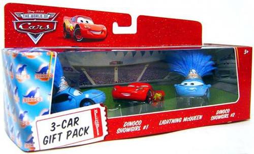 Disney / Pixar Cars The World of Cars Multi-Packs Dinoco Showgirls 3-Car Gift Pack Diecast Car Set