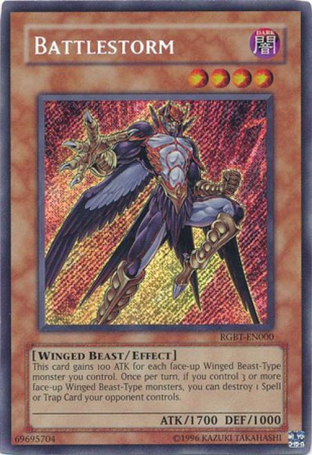 YuGiOh 5D's Raging Battle Secret Rare Battlestorm RGBT-EN000