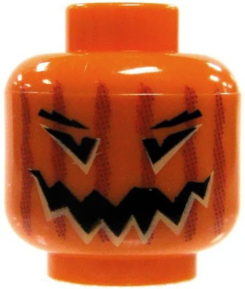Orange Jack O' Lantern Minifigure Head [Loose]