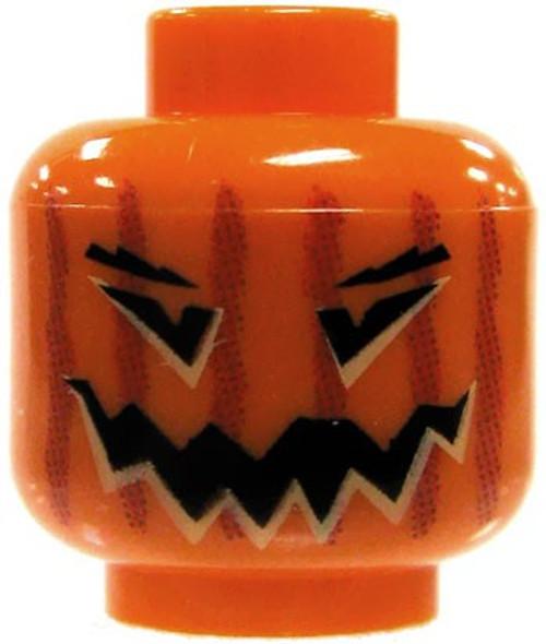 Orange Jack O' Lantern Minifigure Head [Loose]