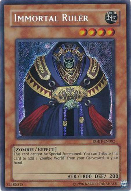 YuGiOh YuGiOh 5D's Raging Battle Secret Rare Immortal Ruler RGBT-EN082
