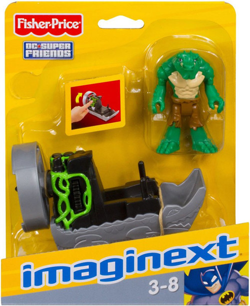 Fisher Price DC Super Friends Imaginext K. Croc 3-Inch Figure Set