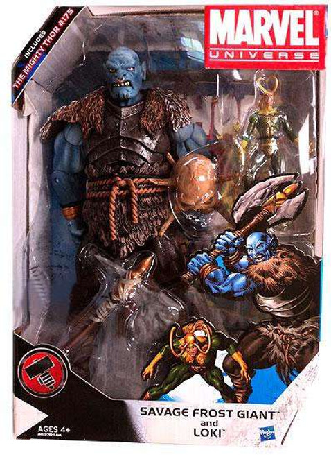 Marvel Universe Savage Frost Giant and Loki Exclusive Action Figure Set #175