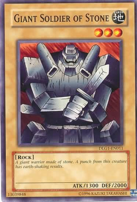 YuGiOh Dark Legends Common Giant Soldier of Stone DLG1-EN011