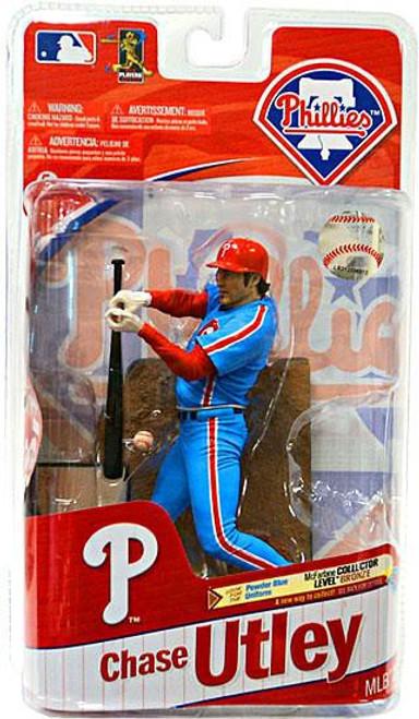 McFarlane Toys MLB Philadelphia Phillies Sports Picks Series 27 Chase Utley Action Figure [Powder Blue Jersey Variant]