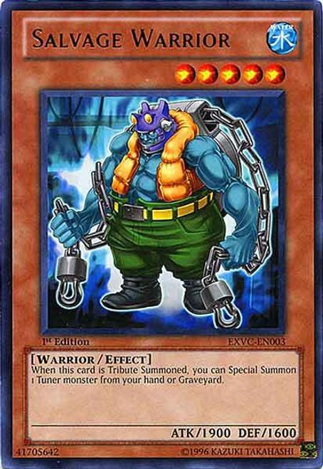 YuGiOh YuGiOh 5D's Extreme Victory Rare Salvage Warrior EXVC-EN003