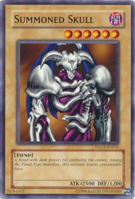 YuGiOh Dark Legends Common Summoned Skull DLG1-EN025