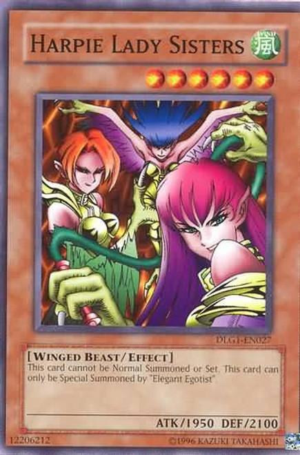 YuGiOh Dark Legends Common Harpie Lady Sisters DLG1-EN027
