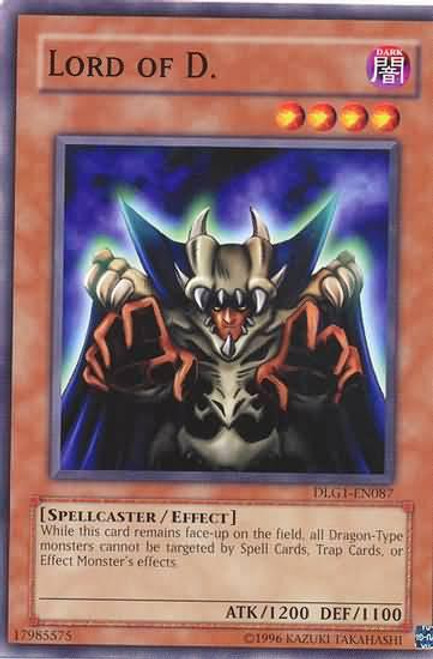 YuGiOh Dark Legends Common Lord of D. DLG1-EN087